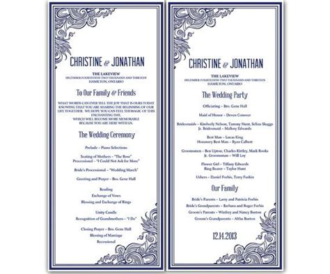 wedding program template microsoft word diy quot impressions quot wedding program microsoft word template