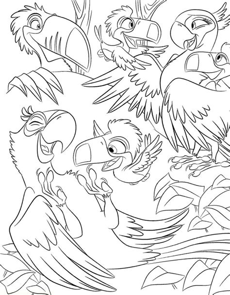 rio birds coloring pages rio coloring pages rio coloring pages free kids coloring