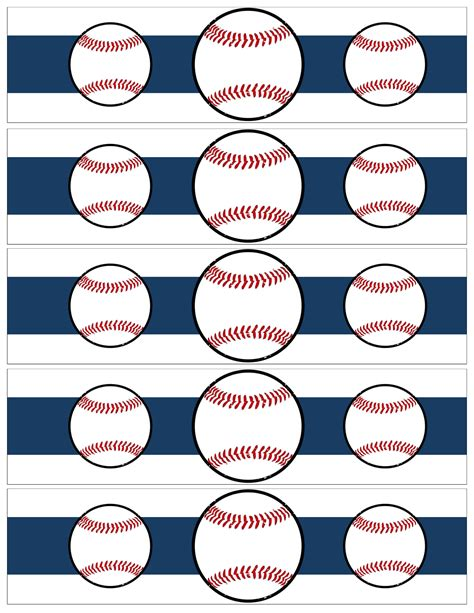 printable baseball tags free printable baseball water bottle labels paper trail