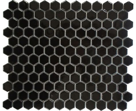 Honeycomb Mosaic Floor Tiles by Honeycomb Hexagon Pattern Mosaic Tile Black