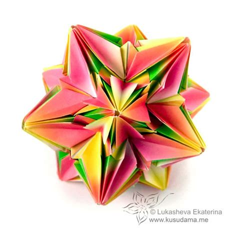 kusudama me modular origami daffodil unit