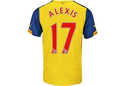 alexis sanchez barcelona jersey puma alexis sanchez arsenal away jersey 2014 15 2014