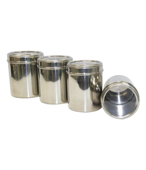 Stainless Steel Kitchen Canisters Sets Dynore Stainless Steel Kitchen Storage Canisters Dabba
