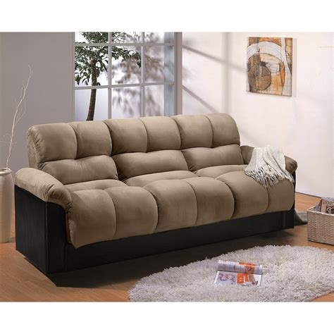 futon or bed ara futon sofa bed with storage hazelnut value city