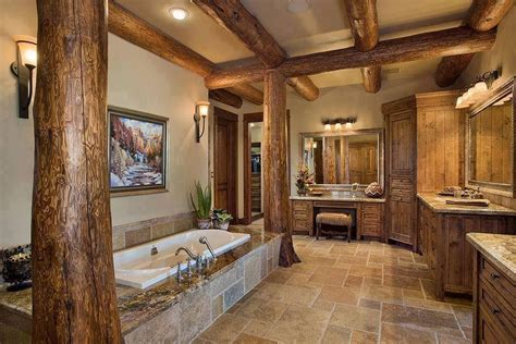 most amazing bathroom log cabins interiors