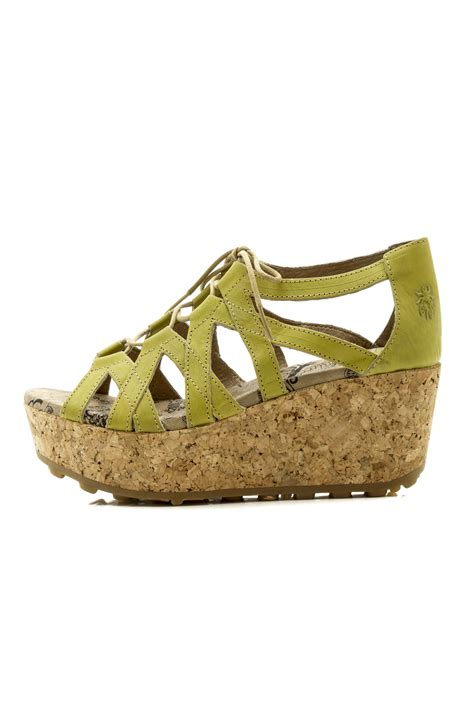 Wedges Wanita Garsel Shoes L 403 fly criss cross lace from montana by dragonfly goods shoptiques
