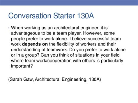 12 conversation starters psu observation introduction