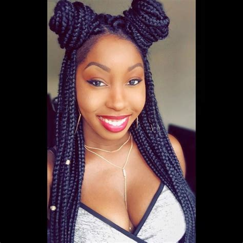 how to do a bun with braid box braids 72 box braids hairstyles with instructions and images