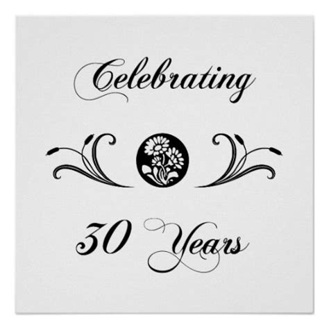 30th wedding anniversary symbol 30th wedding anniversary gifts posters 30th anniversary