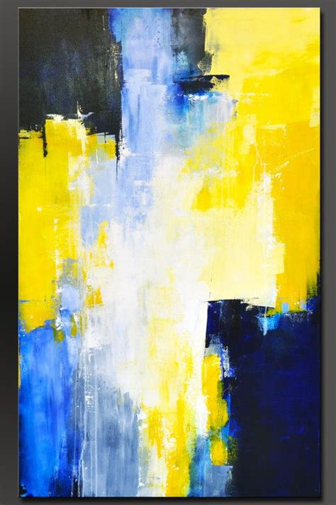 acrylic painting abstract big sky blue 48 x 30 abstract acrylic painting modern