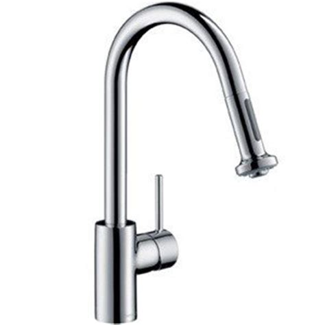 hansgrohe kitchen faucets hansgrohe 14877801 talis s 2 kitchen faucet with pull 2 sprayer steel optik pictured in