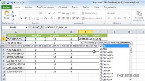 esta funcionalidad de excel permite agilizar la captura de registros funci 243 n extrae en excel 2010 youtube