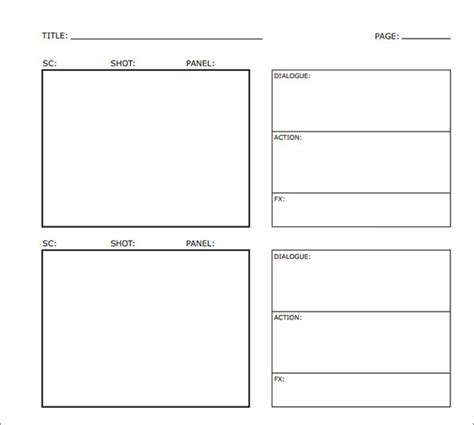 storyboards templates sle storyboard template 15 free documents