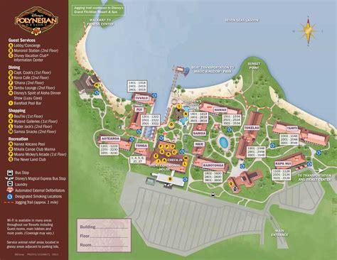 club resort map disney polynesian resort map kennythepirate