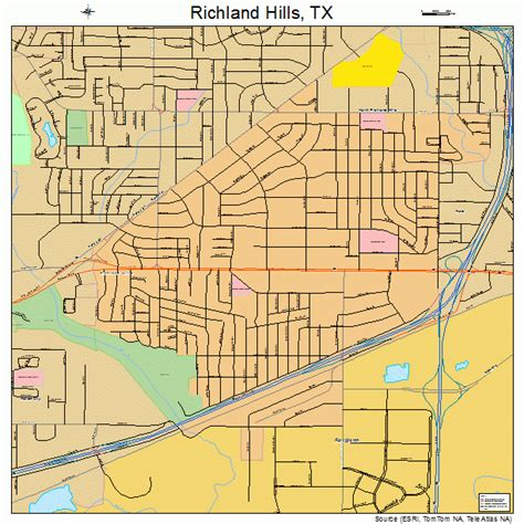 richland texas map richland texas map 4861844