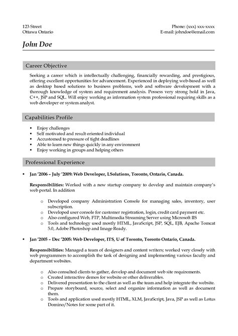 cover letter for java developer resume java developer objective najmlaemah