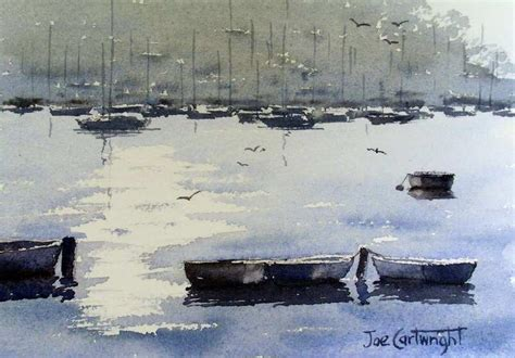 paintings of boats on water simple watercolor paintings for beginner watercolor artists