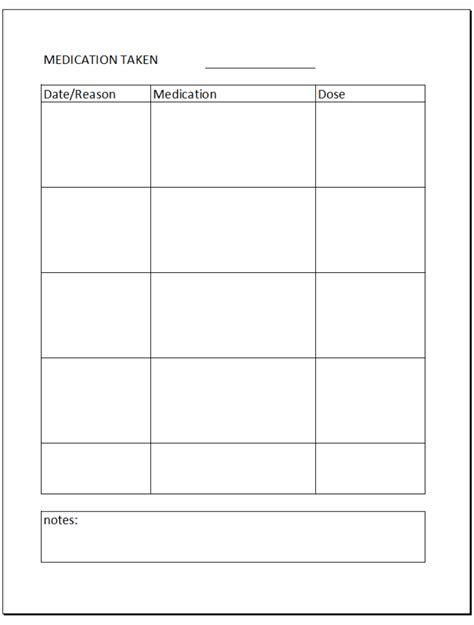 printable daily medication log sheet search results