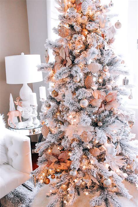 xmas gold decor blush pink rose gold white christmas decor