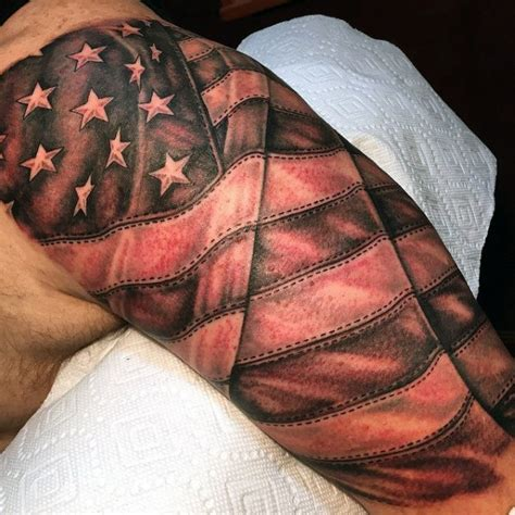 quarter sleeve american flag tattoo top 60 best american flag tattoos for men usa designs