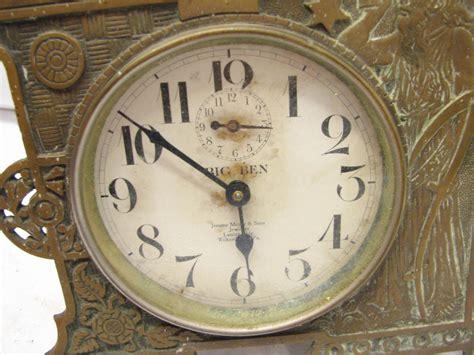 antique bronze brass shelf mantle clock big ben westclox alarm clock time ebay