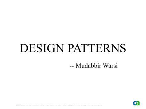 pattern making slideshare design patterns