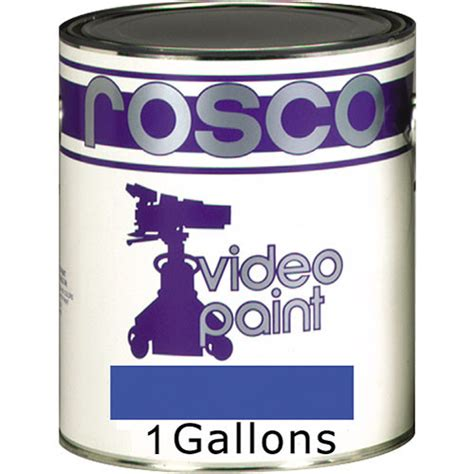 how many gallons of paint to paint a room rosco chroma key paint blue 1 gallon 150057100128 b h photo
