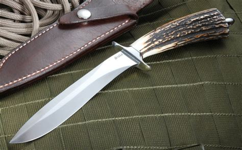 edged bowie knife jim siska edge stag bowie knife