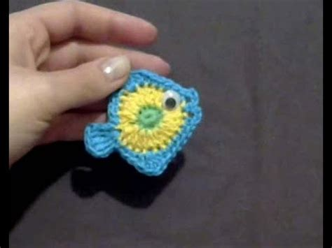 youtube pattern fish crochet fish applique english tutorial youtube