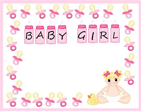 Baby Shower Boarder by Free Baby Shower Border Templates Cliparts Co