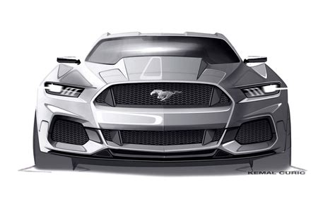 Mustang Auto Zeichnen by Ford Mustang Design Sketch By Kemal Curic Sketches