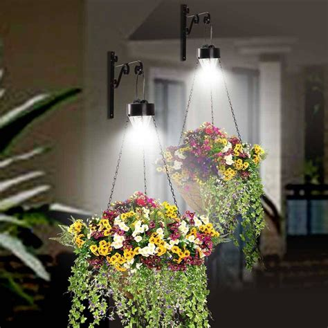 diy solar lights outdoor hanging solar lights outdoor hanging baskets pinterest