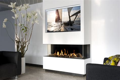 Open Sided Fireplace by Three Sided Appliance