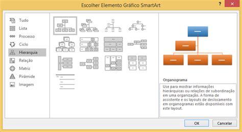 criar layout criar um organograma usando elementos gr 225 ficos smartart suporte do office