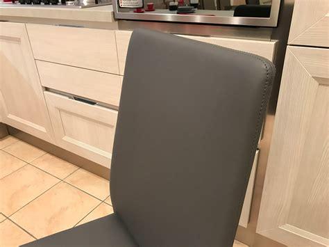 sedie bontempi offerte sedia malik bontempi ecopelle antracite scontato 40