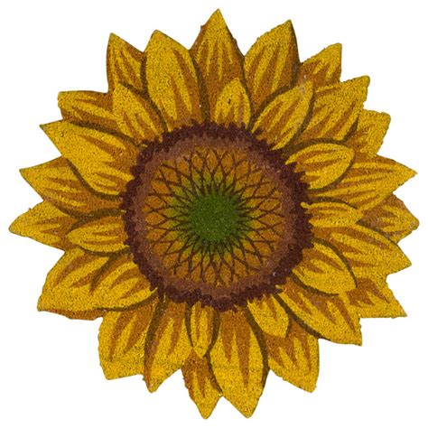 Sunflower Doormat mina victory outdoor sunflower coir mat doormat yellow 30