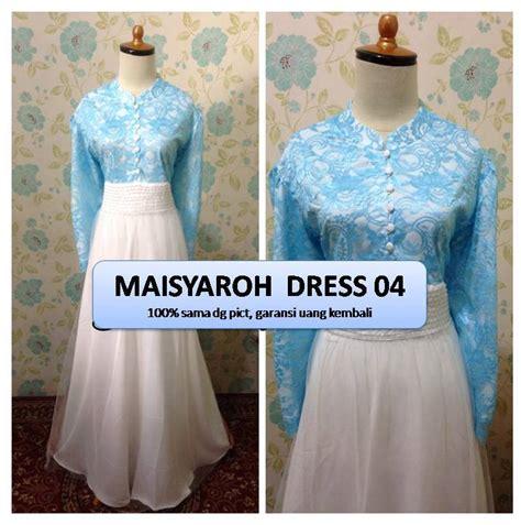 Promo Dress Pesta Pernikahan Penerima Tamu Murah gaun pesta maisyaroh dress gracie dress outlet nurhasanah outlet baju pesta keluarga muslim