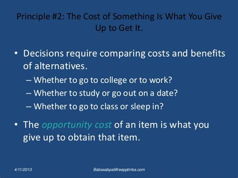 Is It Worth It To Get An Mba by Ten Principles Of Economics Ppt Mba