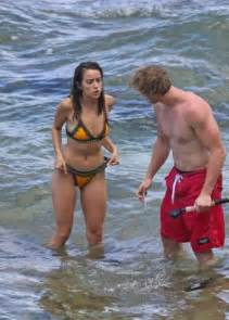 movie with chloe bennet chloe bennet in bikini with boyfriend at the beach in hawaii