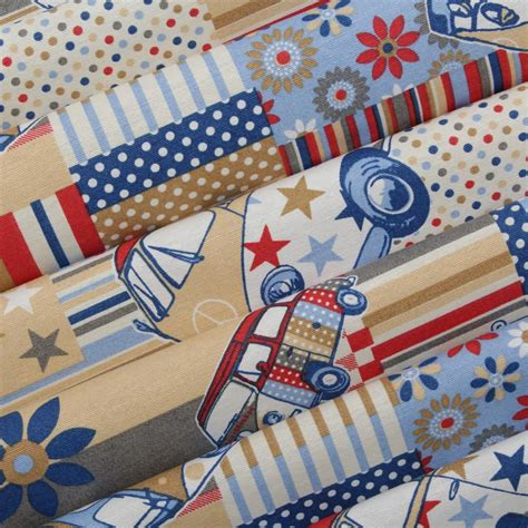 patchwork upholstery fabric heavy cotton canvas vw cnd patchwork campervan upholstery