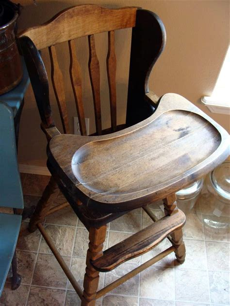 Antique Wooden High Chair For Sale diddle dumpling vintage high chair favorite yard sale find