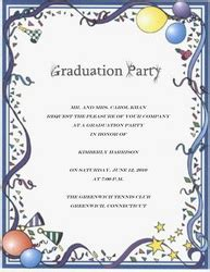 graduation party invitation words templates clip art