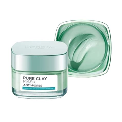 Harga L Oreal Clay Mask jual l oreal clay pore refining mask 50 ml