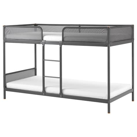 pictures of bunk beds tuffing bunk bed frame dark grey 90x200 cm ikea