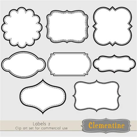 Etiketten Drucken In Pages by Printable Labels Clip Images Scrapbook Clip