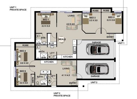 2 Car Garage Design Ideas 5 bed room dual key 183 dk dual key plans dual living