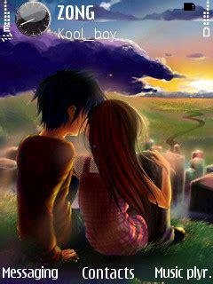kissing couple wallpaper nokia 5233 download love u nokia theme mobile toones