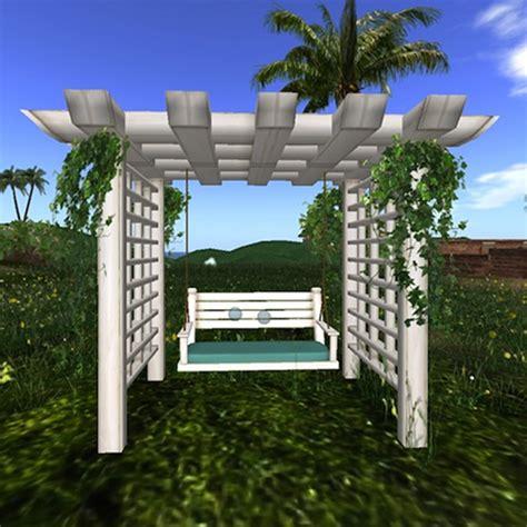 swing pergola benefits pergola swing white garden landscape