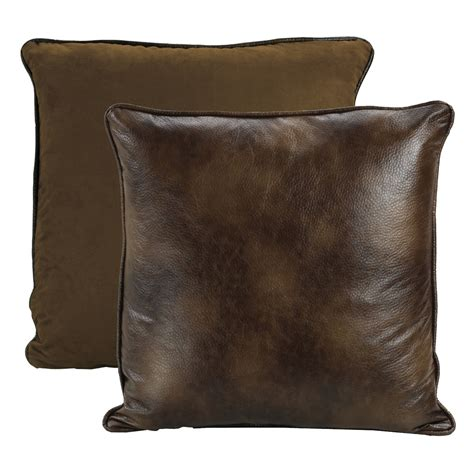 brown faux leather sham