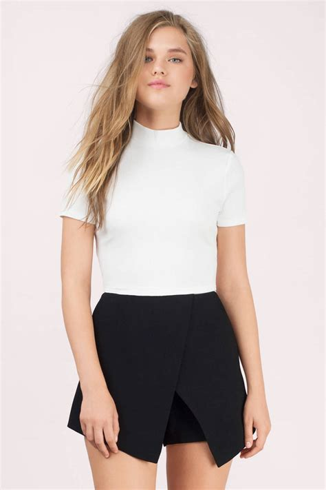trendy white crop top white top bandage top 13 00